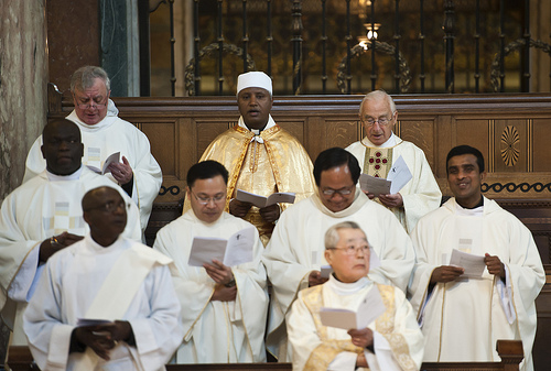 clergy including Fr Pat & Paul Li